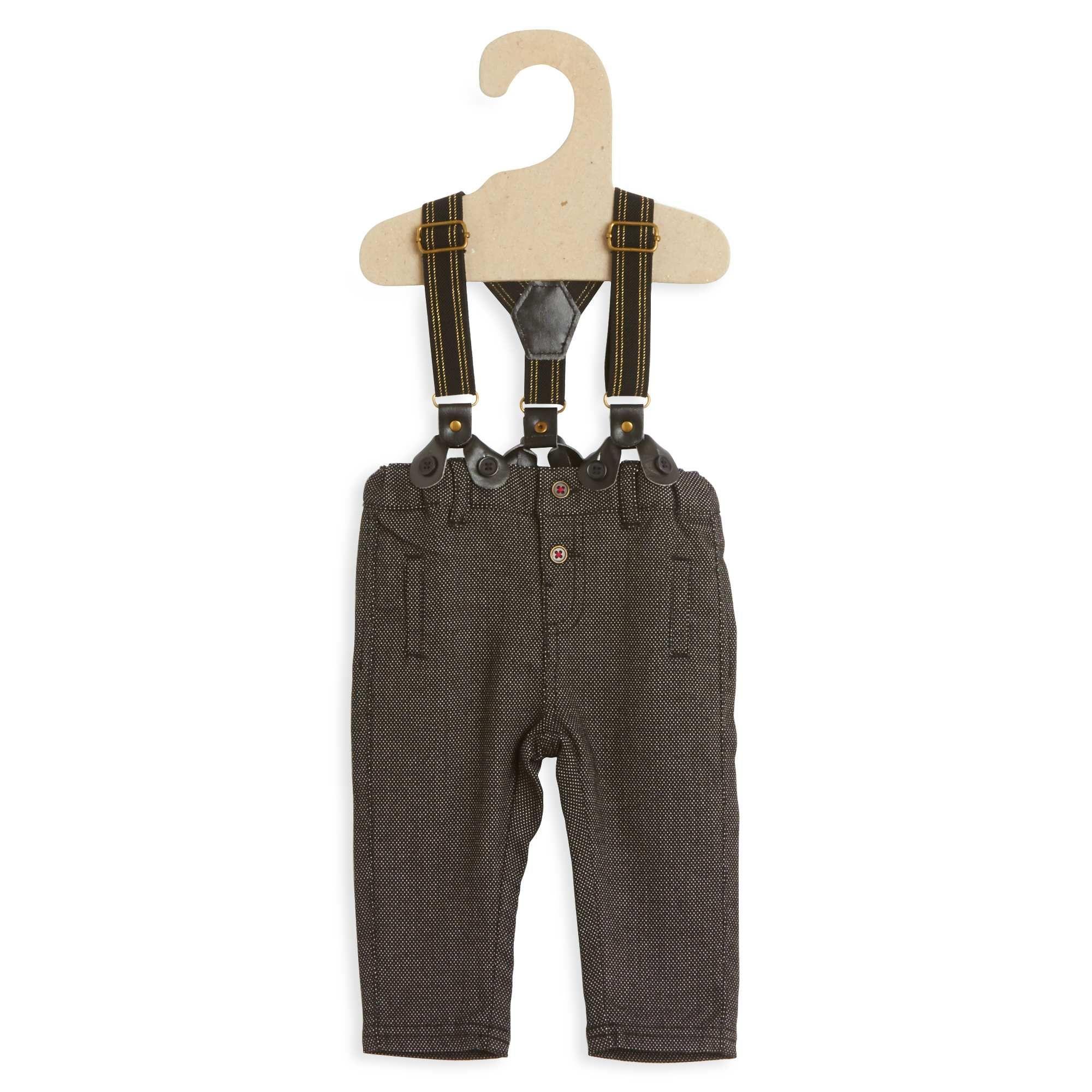 Pantalón + tirantes                                                                                         negro Bebé niño