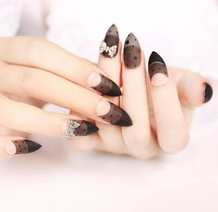 58 best ideas for nails acrylic clear black nails