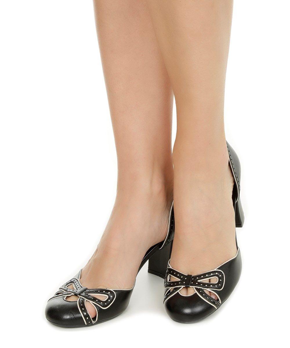 85cfead65e Scarpin Sarah Chofakian com Laço Vazado Preto - cea Sapatos Para Mulheres