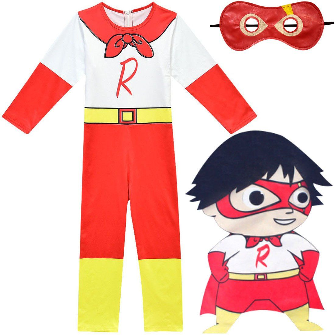 Ryan Toys Review Costume with Eye Mask Jumpsuit Bodysuit