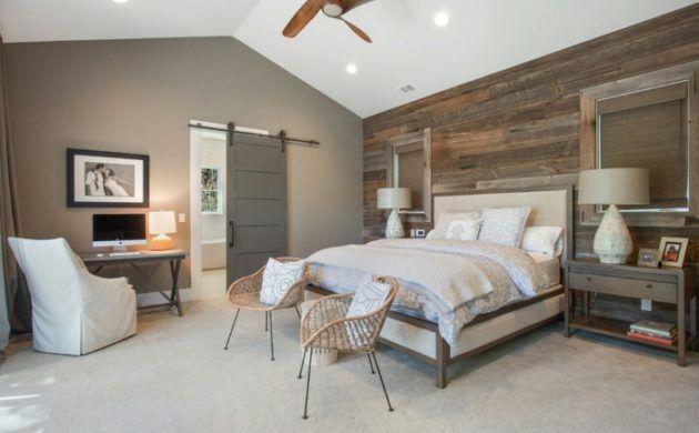 schlafzimmer landhausstil heller teppichboden und beige wandfarbe - wandfarben beige