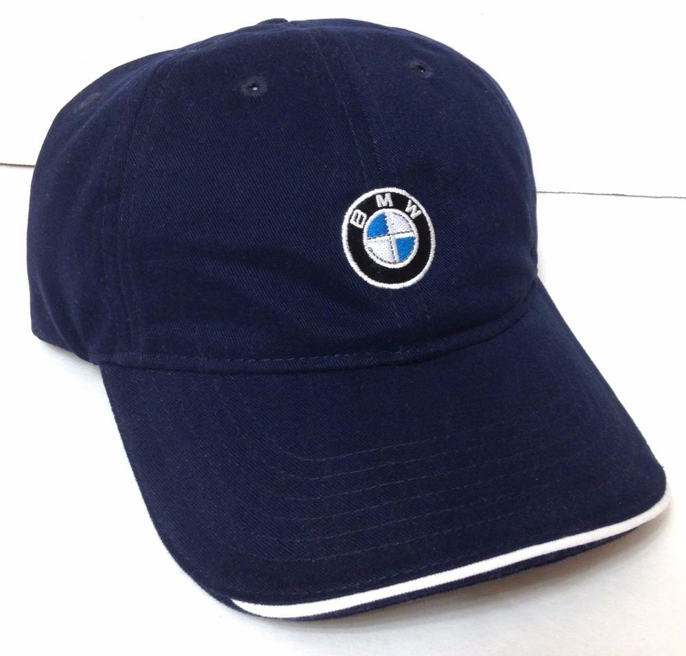 5c0b36af1a67c Made From Recycled Bottles BMW LOGO HAT Relaxed-Fit Dad Cap Navy Blue  Men Women  BMW  BaseballCap