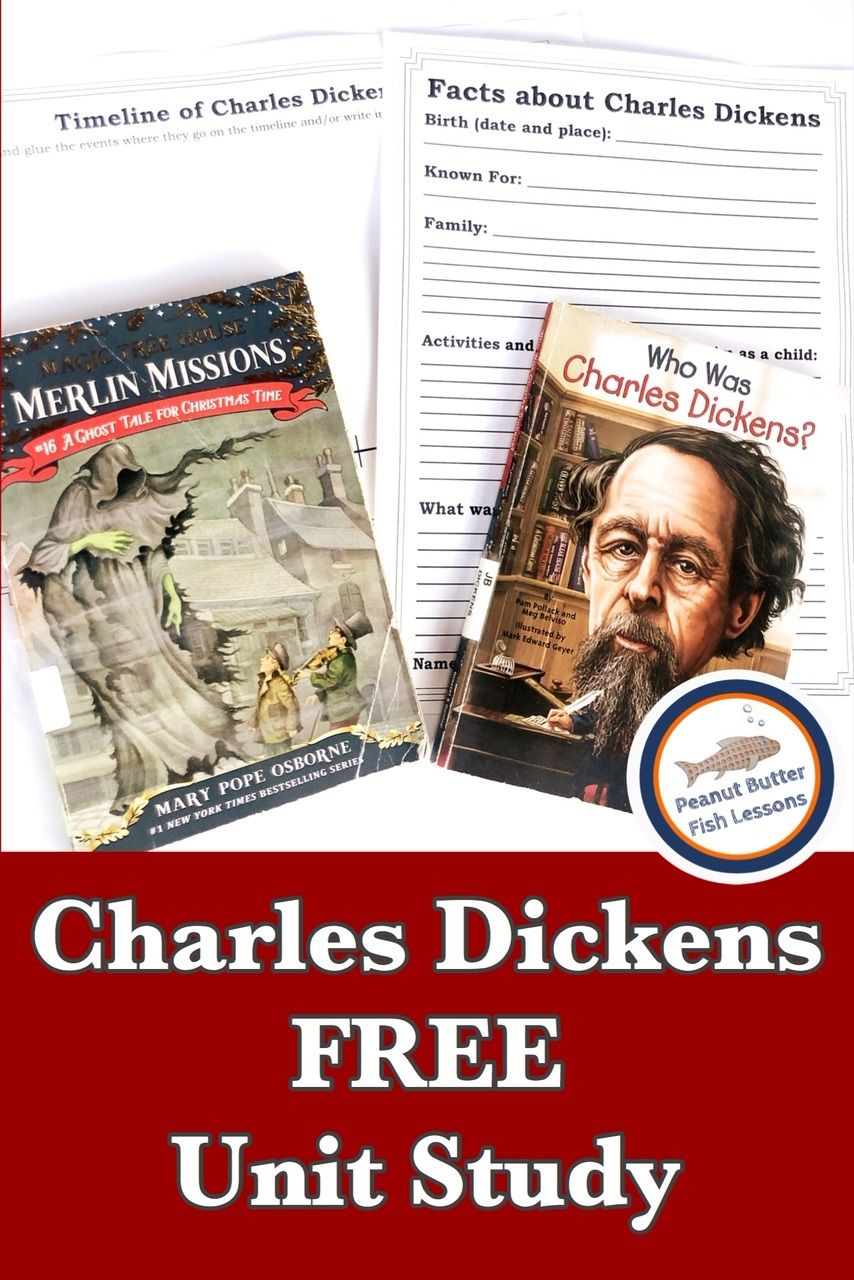 Charles Dickens Free Unit Study Peanut Butter Fish Lessons Study Unit Charles Dickens Magic Tree House Books [ 1280 x 854 Pixel ]