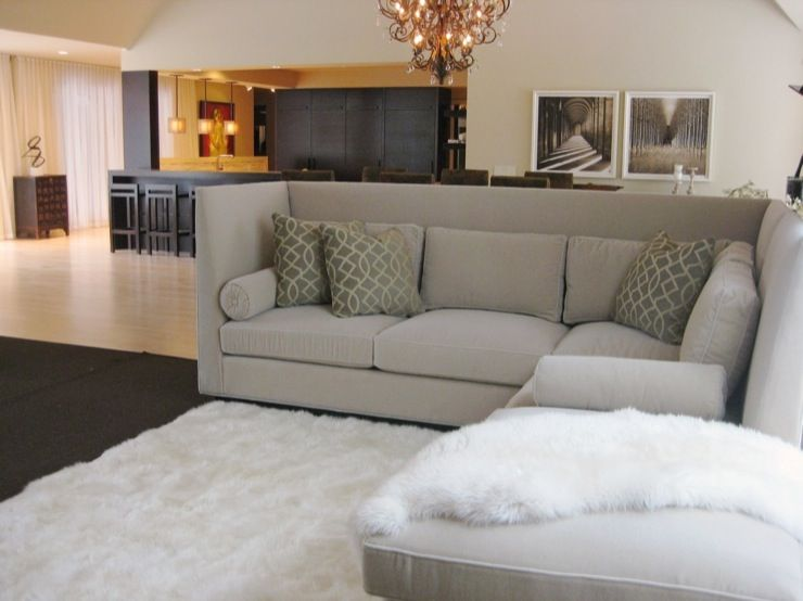 Love The High Back On This Sectional Would Be Awesome In My Family Room Home Living Room Living Room Designs Grey Sectional Sofa