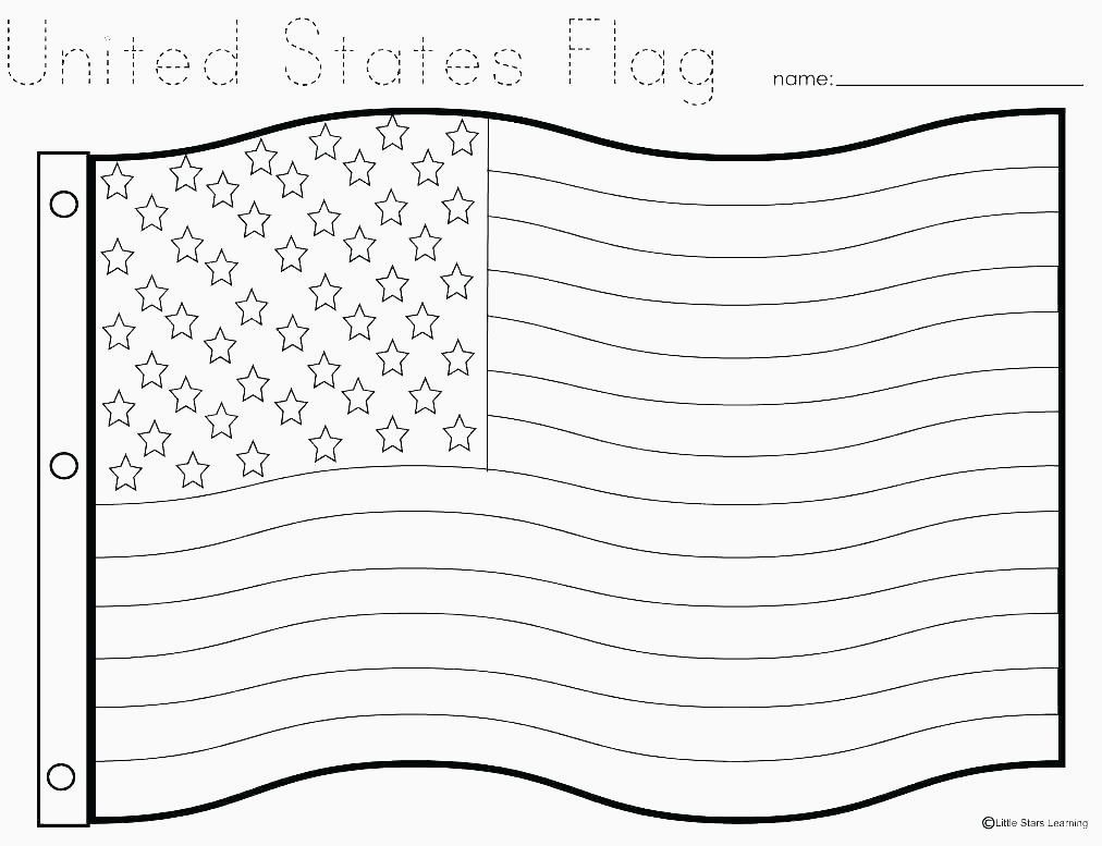 24 Waving American Flag Outline in 2020 Flag coloring