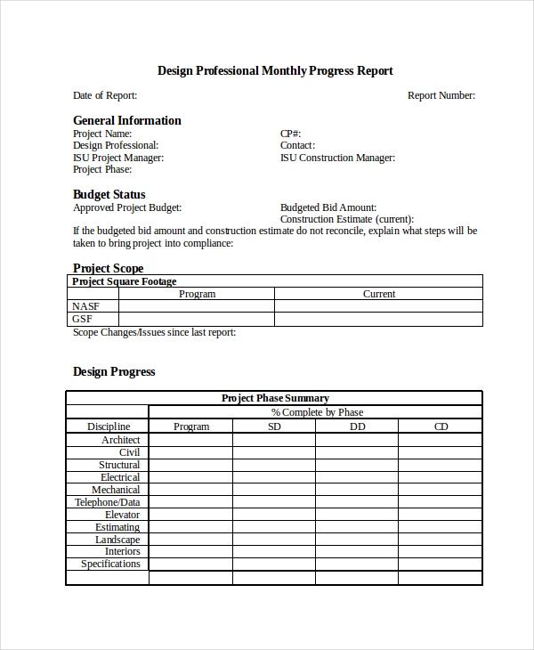 14+ Free Progress Report Templates