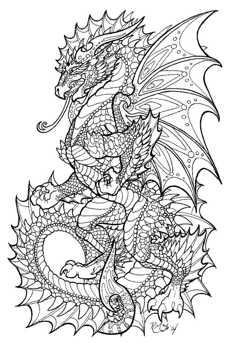 Coloring pictures dragons - Color Your Dragon Onyx Herald Lineart By Deviantart