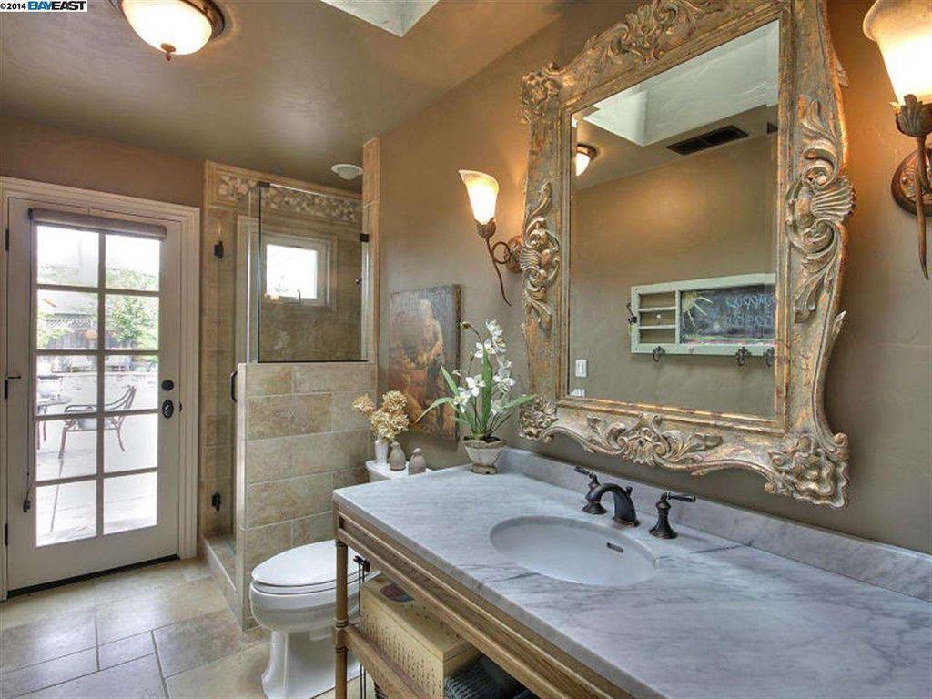 Mediterranean 3/4 Bathroom with Standard height, Casement ...