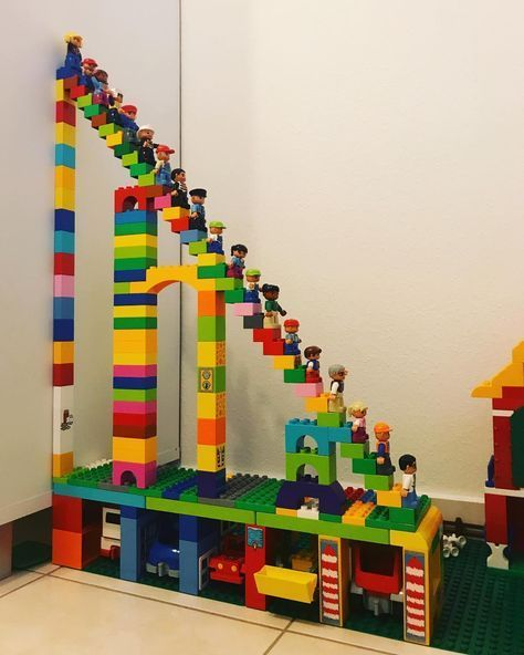 "Photo of Unvisibleviewer on Instagram: ""#duplo #duplotime #brick #downstairs #upstars #stairs #duplomania #duplofigures #duplocharacter #legodream #familytime #qualitytime…"""