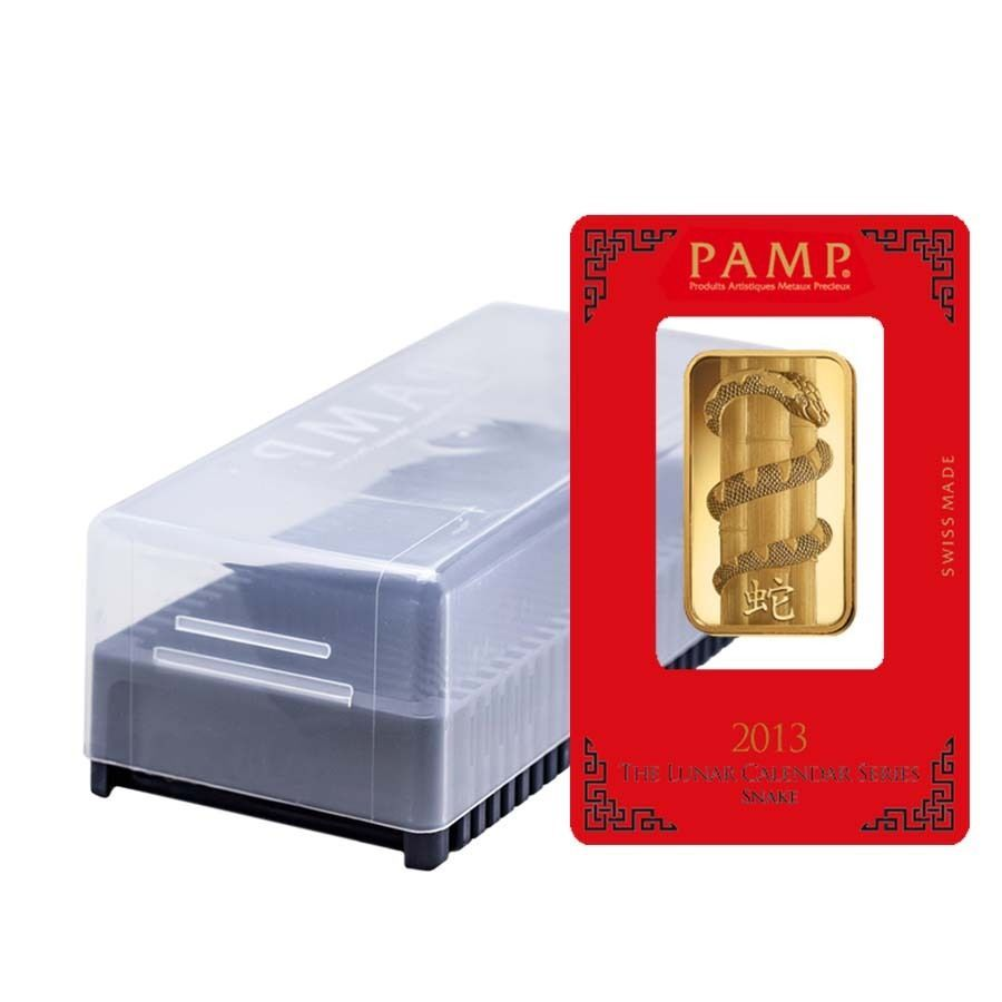 Box Of 25 1 Oz Pamp Suisse Year Of The Snake Gold Bar In Assay Gold Bar Year Of The Dragon Year Of The Snake