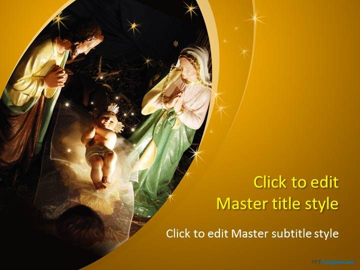 Free Nativity Ppt Template Religin Ppt Templates Powerpoint