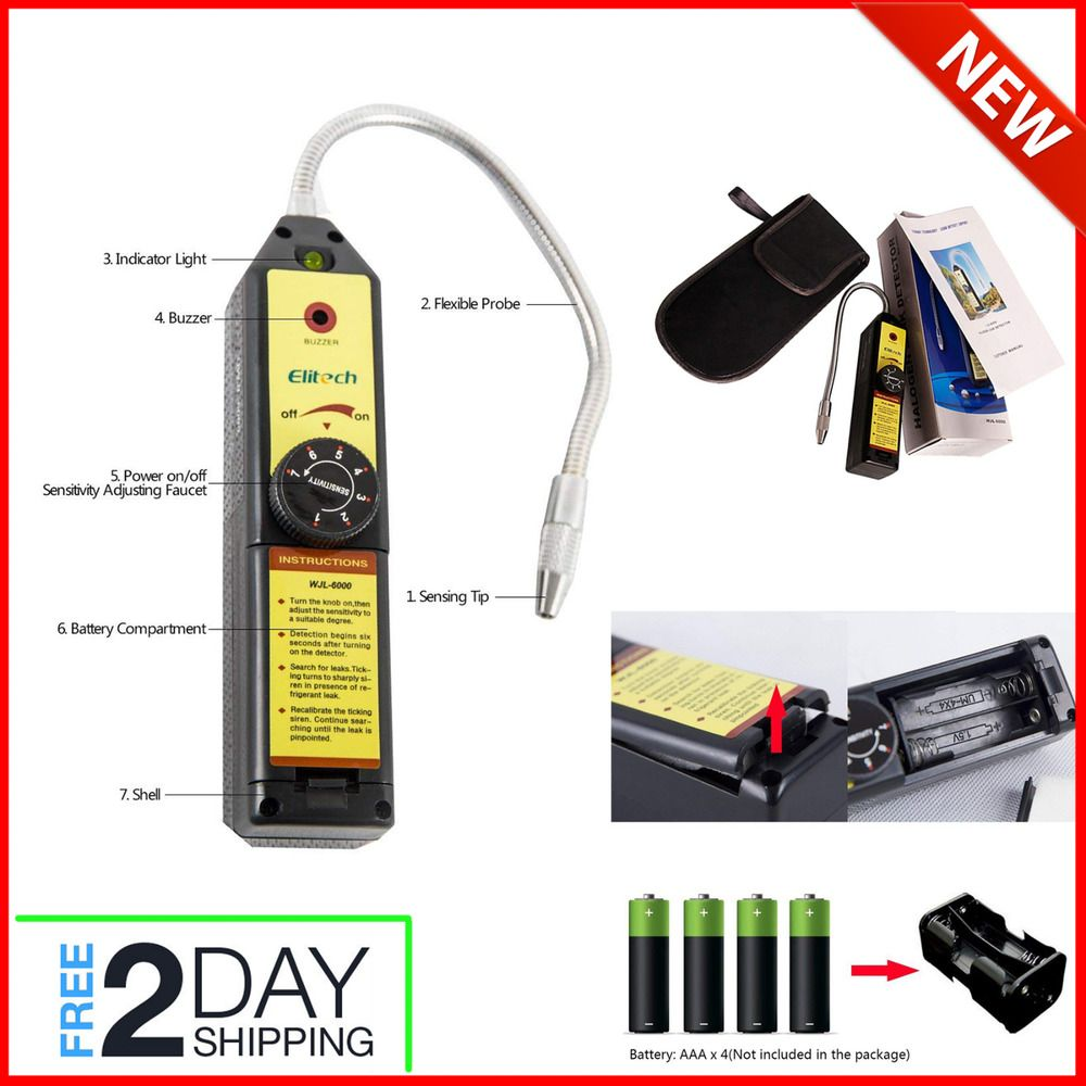 Portable Halogen Gas AC Freon Refrigerant Leak Detector
