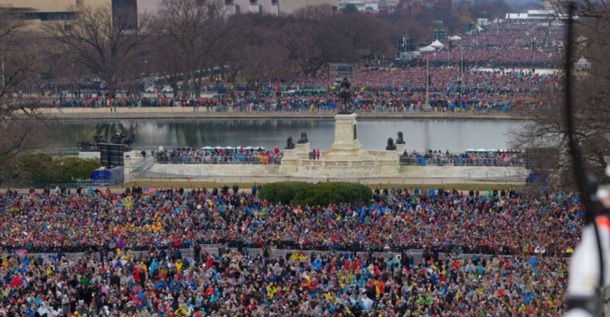 Here's President Trump's actual crowd as...