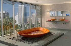 Bilderesultat for wooden bathtub