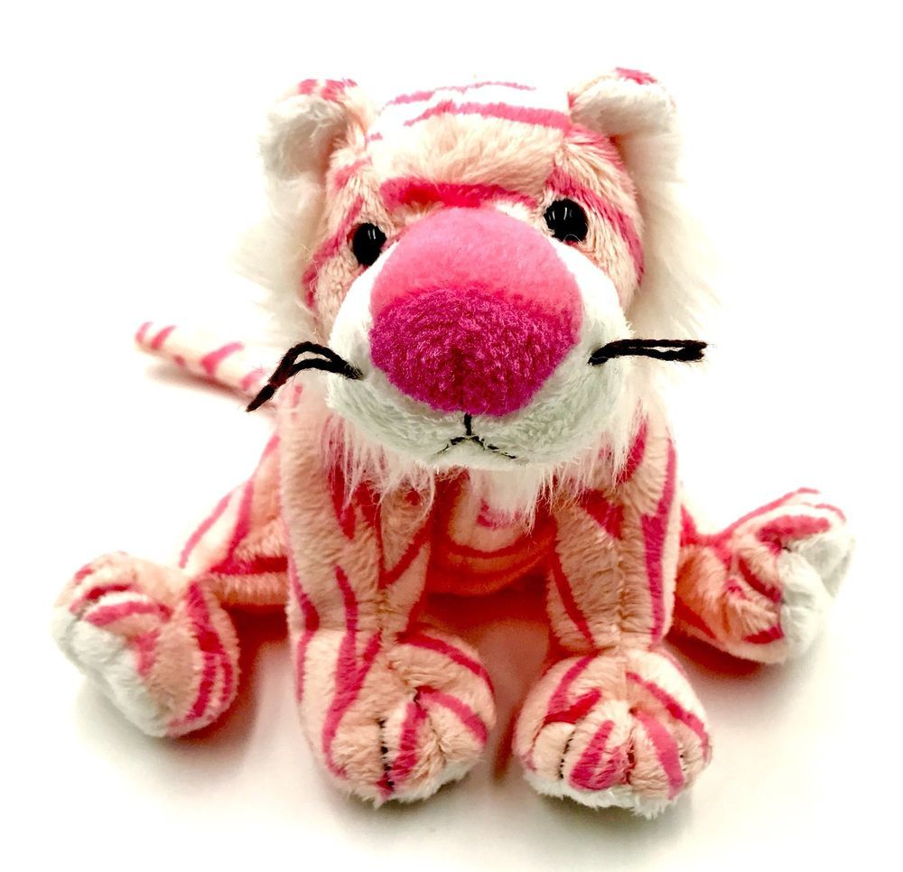 Ty Beanie Babies Mystique The Pink Tiger 2004 Rare Retired Shimmery