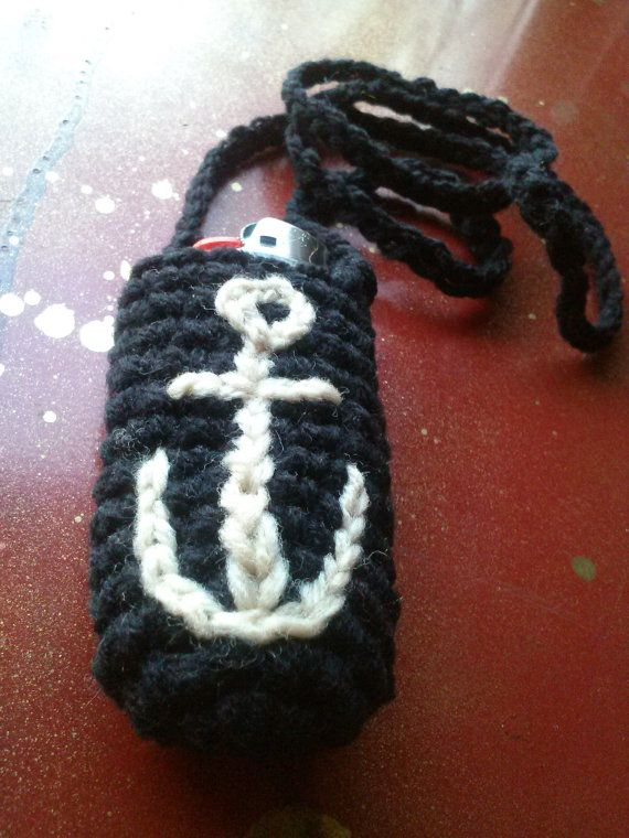 Black and Tan Nautical Lighter Leash FOR ANCHOR LOVERS by KissAMI, $8.00