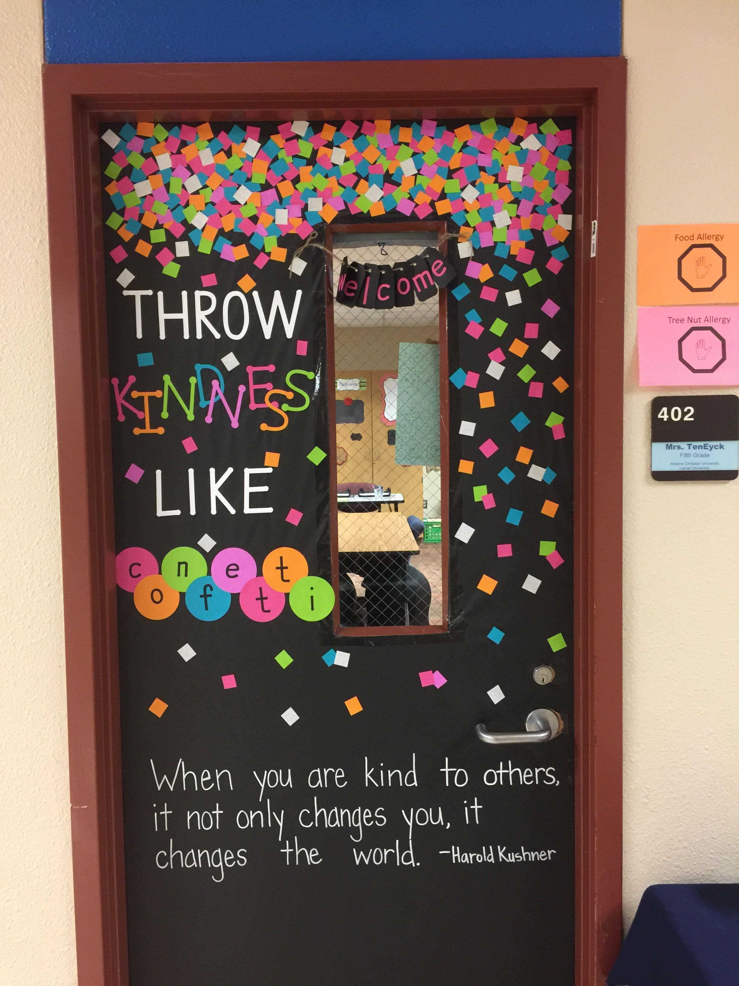 Kindness classroom door | 4th grade | School doors ...