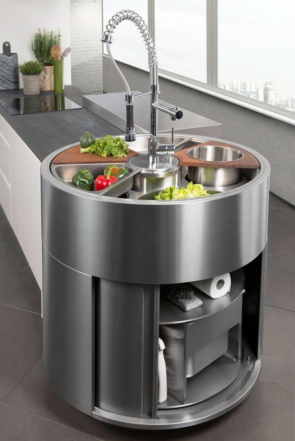 Darty Cuisine - Nos cuisines - Ouverte sur salon - Étagères de - cuisine ouverte sur salon m