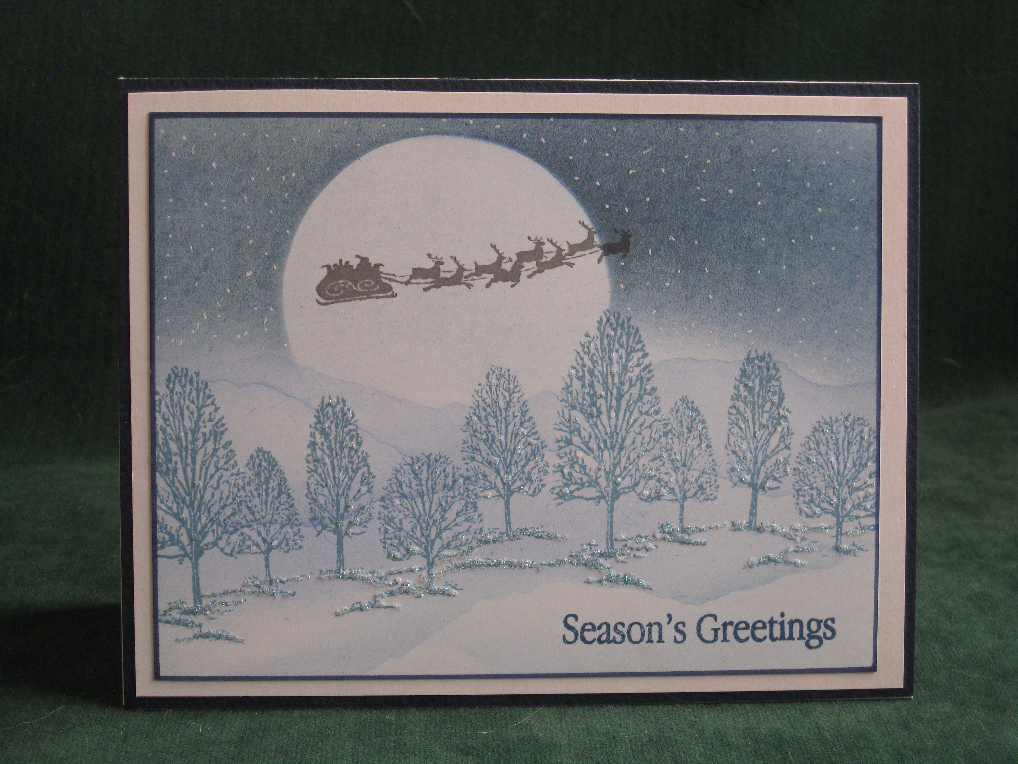 Christmas card 2014 using Inkylicious stamps   Christmas Cards ...