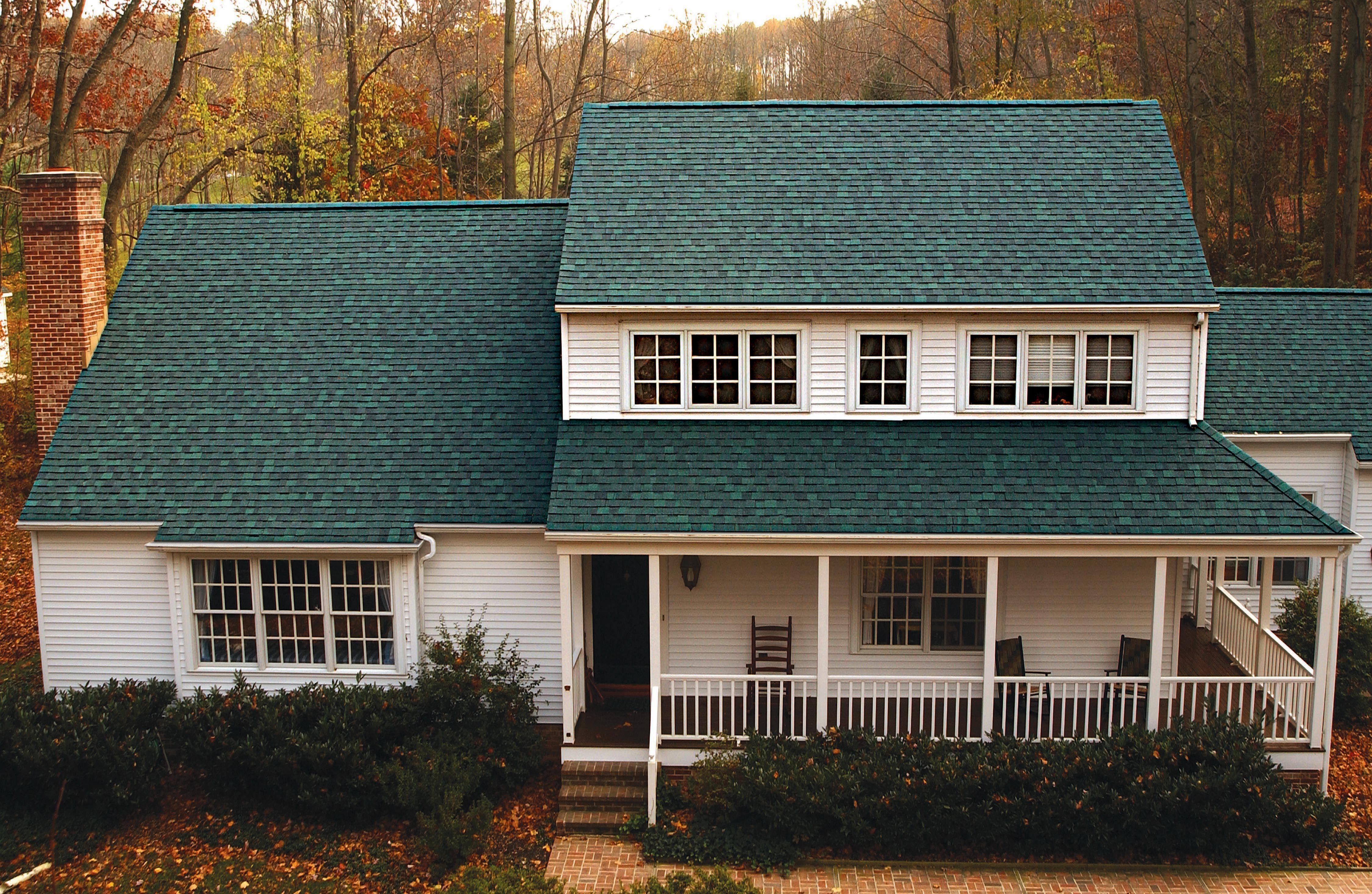 Landmark - Hunter Green Roofing Certainteed