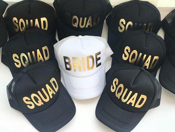 faee4029c2e9d Bride Squad Hats - Bride Tribe Hats - Bachelorette Party - Bridal ...