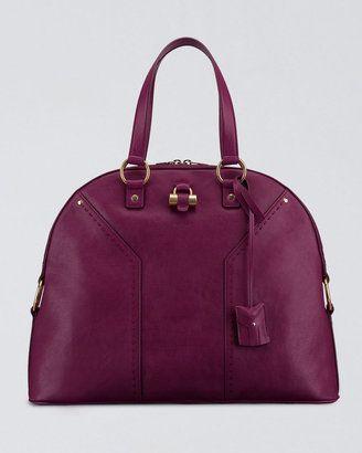 37a3eb9d9788 Yves Saint Laurent Oversize Muse Satchel.... love the color!!!