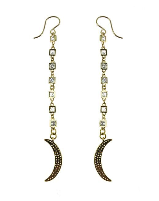 Crystal-studded crescent moons hang from glittering chains in these unique, celestial-inspired drop earrings. Shine bright while wearing our 14k gold fill or sterling silver Allure Lunar Love Earrings. #Nashelle #NashelleJewelry #AllureCollection #Fashion #FashionFeedingHunger #Charity #FeedingAmerica #GiveBack #Love #Jewelry #Custom #WhoWhatWear #PNWStyle #LiveAuthentic #Dazzling #Divine #Love