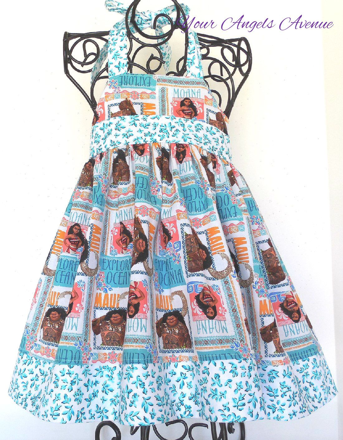 Girls Toddler Baby Disney Princess Moana Dress Movie Wayfinder ...