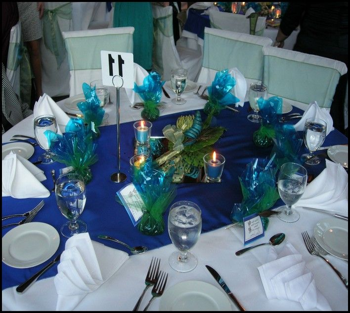 themed+table+settings | Peacock Themed Wedding Table Settings - wedding decorations : Wedding ...