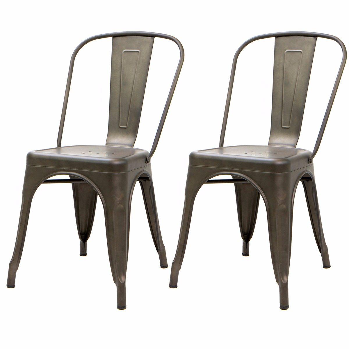 Guns On Kitchen Table: 2PC Bistro Bar Pub Dining Promenade Vintage Side Chair