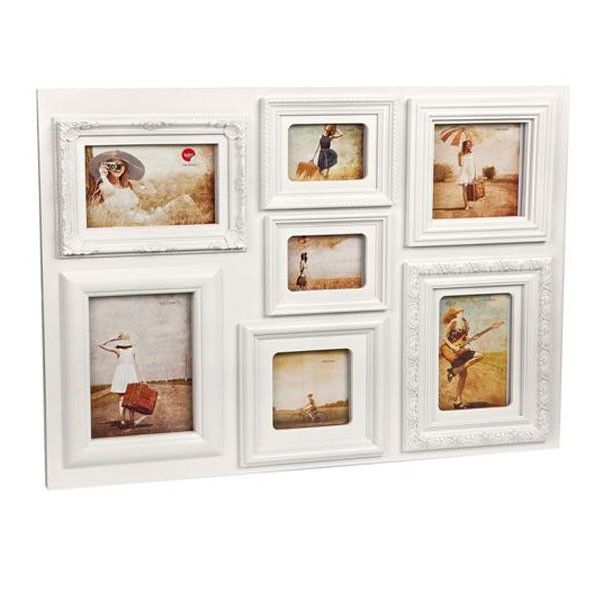 Baroque Multiple Photo Frame - White - Give your latest snaps a rightful  place on your