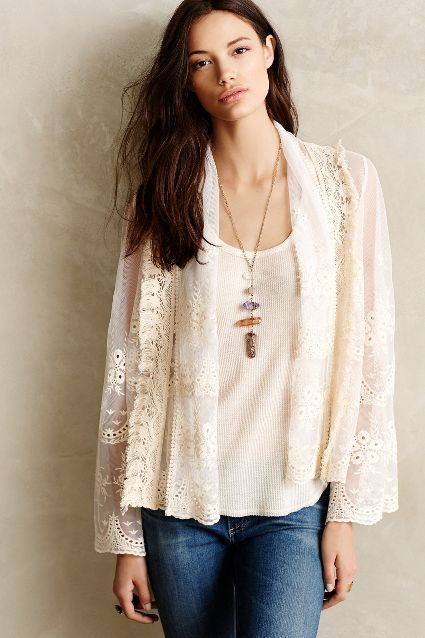 Cropped Lace Jacket - anthropologie.com