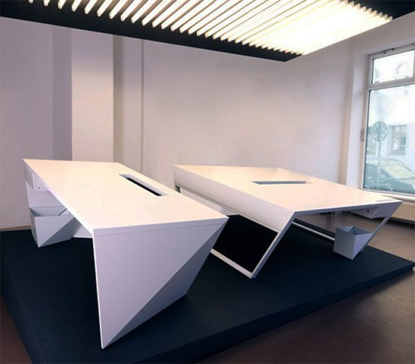 42 Gorgeous Desk Designs for any Office | Industrial design ...