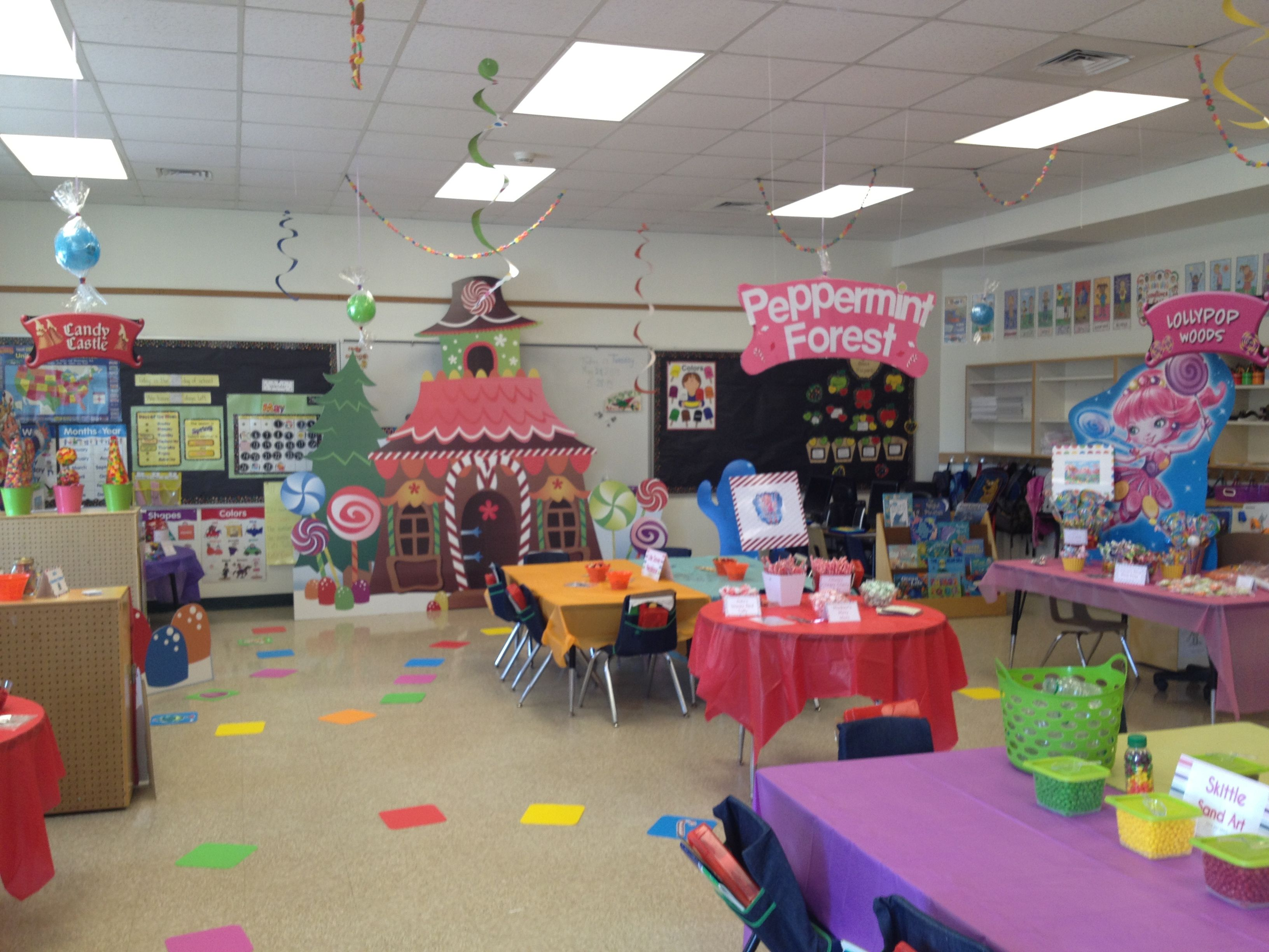 School Classroom Decor Games ~ Candy land classroom party pinterest
