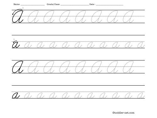 Common Worksheets » Cursive Writing Pdf - Preschool and ...