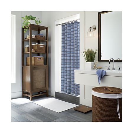 Sedona Honey Vanity Tray   Crate, barrel, Bamboo bathroom ... on Corner Sconce Shelf Tray id=75155