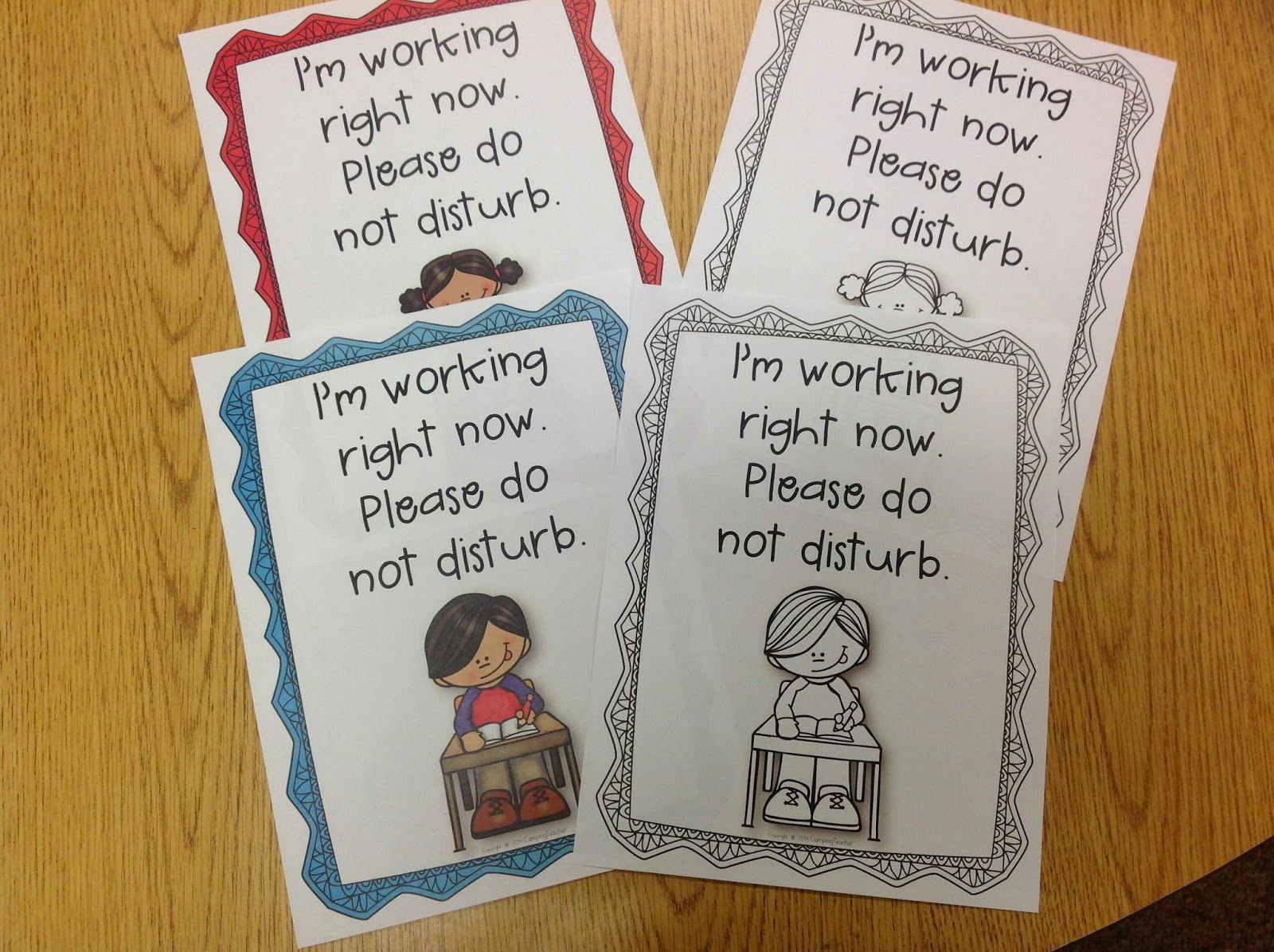 CampingTeacher: Back to School Freebie! Do Not Disturb Folders!