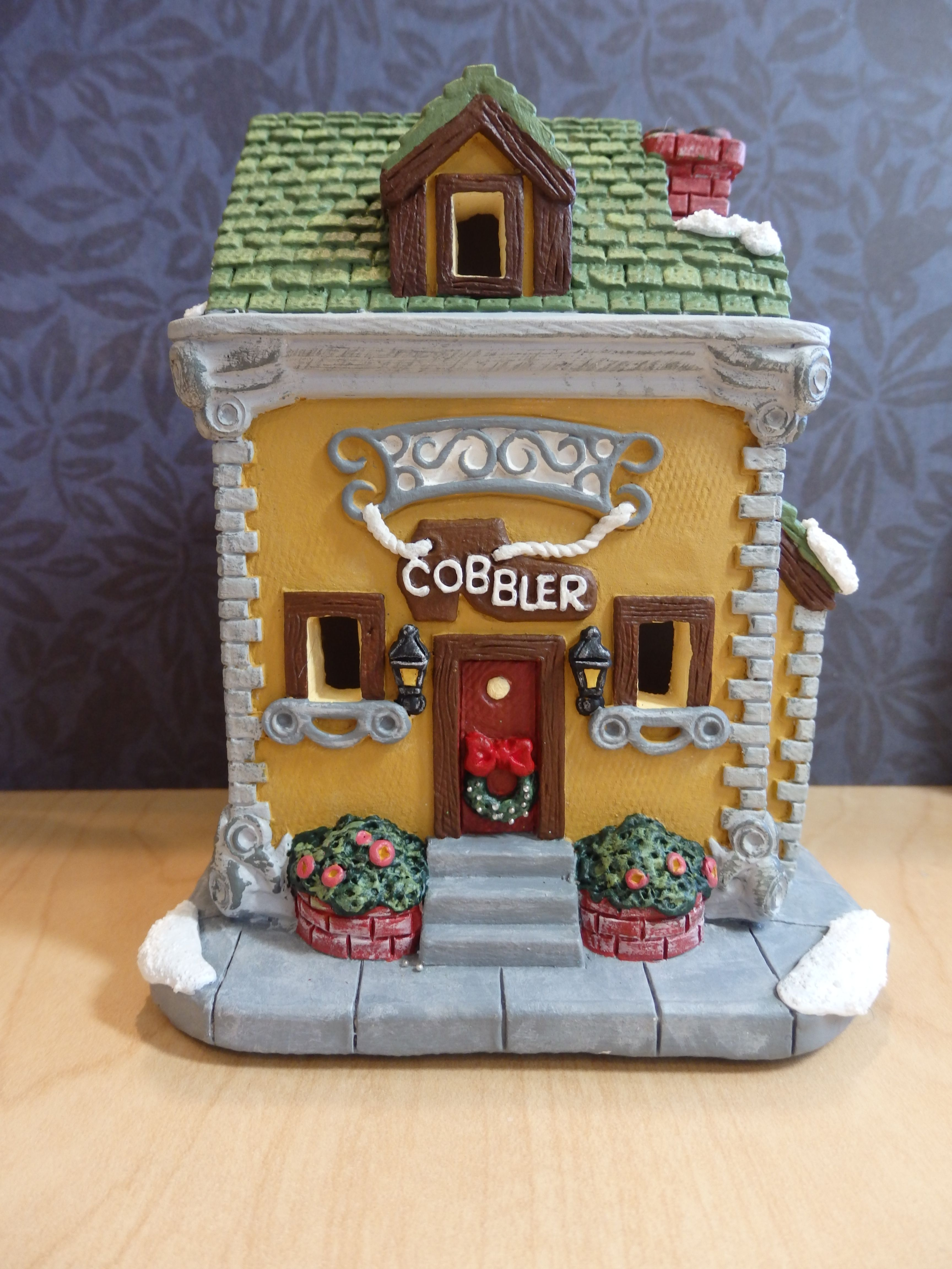 california creations christmas village handpainted plaster cobbler this will be a new addition to my 2017 christmas village