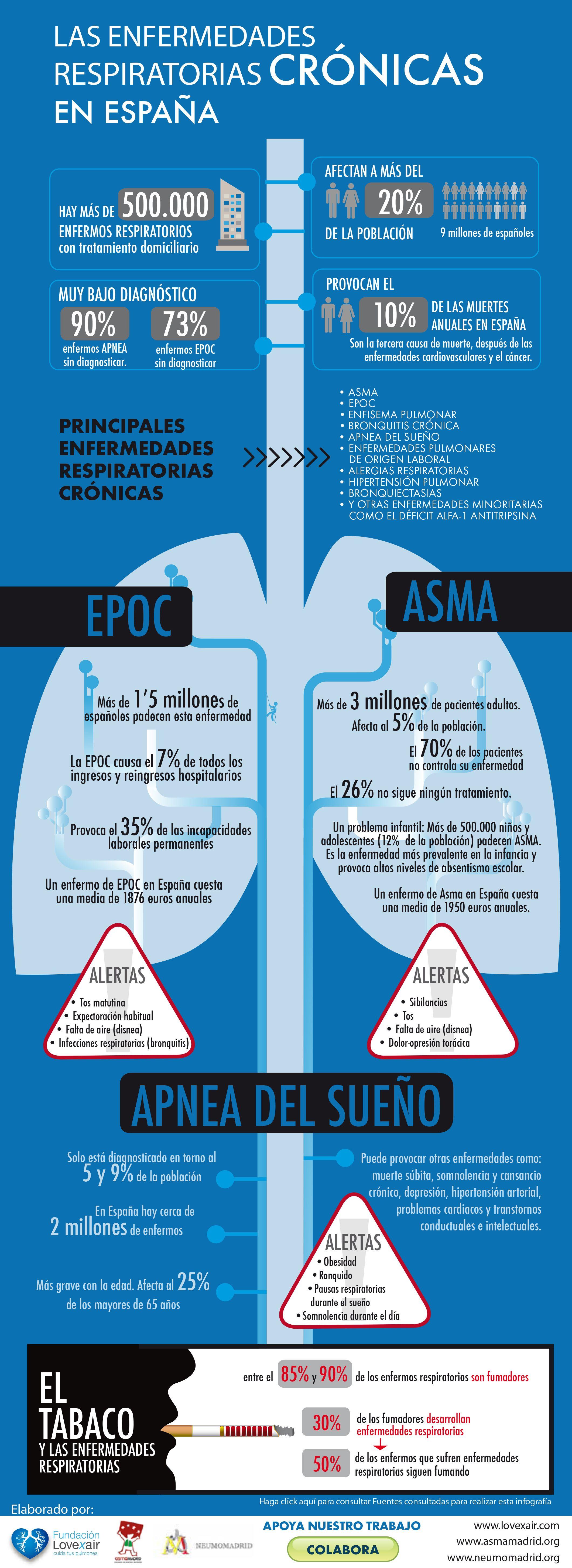 Infografía sobre las principales enfermedades respiratorias crónicas ...