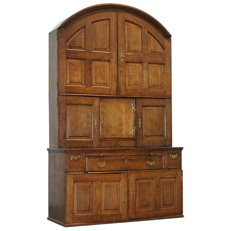 Very Rare circa 1740 Continental Arched Top Oak Dresser ...