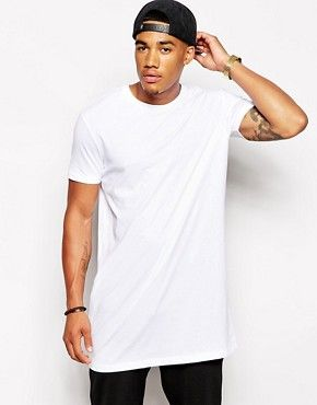 ASOS Super Longline T-Shirt With Relaxed Skater Fit