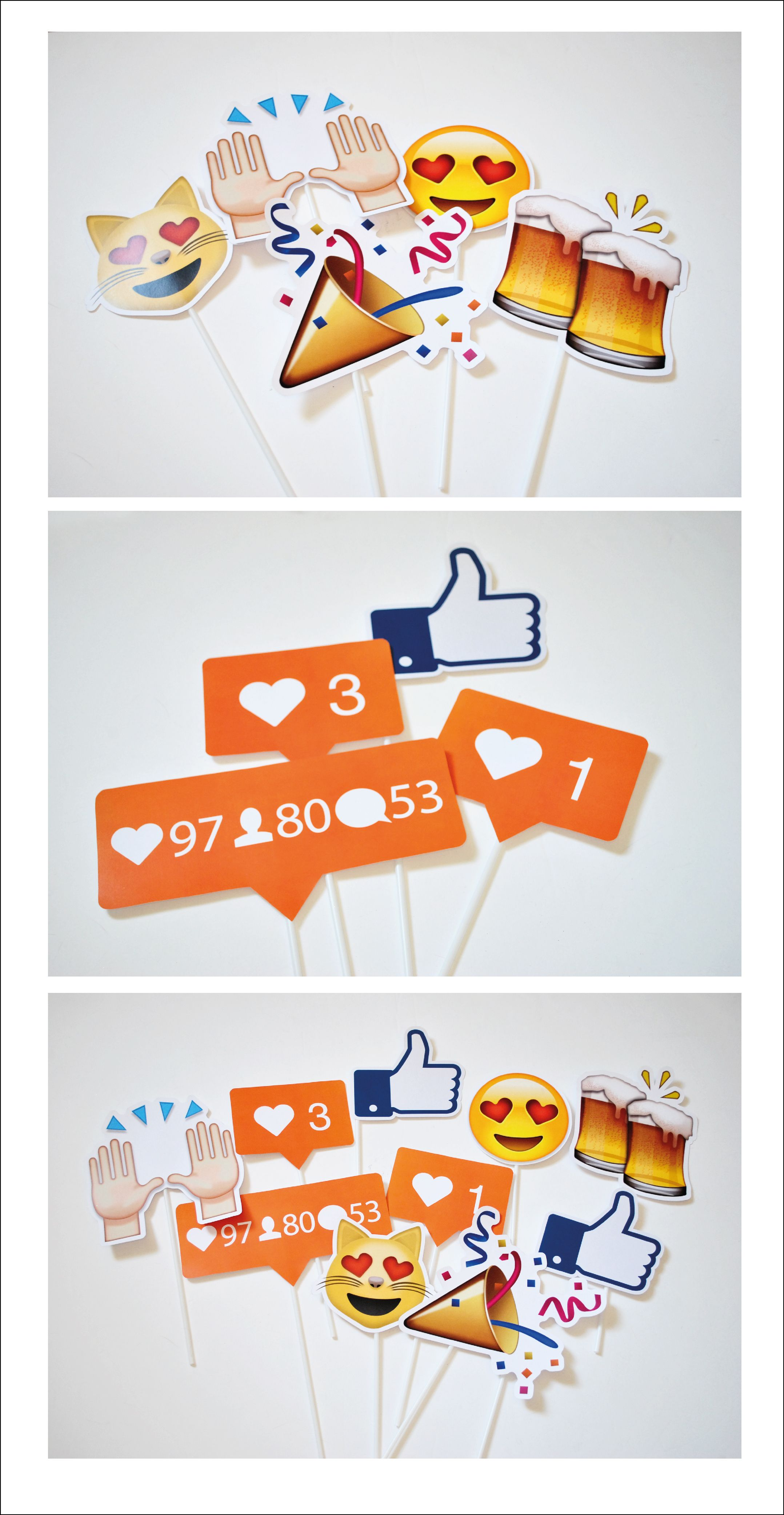 Photo props iconos sociales emoji instagram facebook for Emoticones para instagram