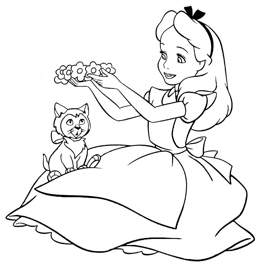 alice in wonderland coloring page # 6