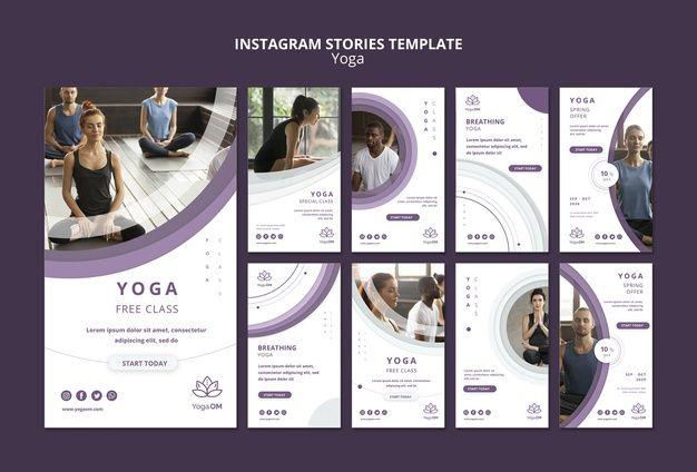 Шаблон instagram истории с йогой Бесплат... | Free Psd #Freepik #freepsd #design #template #social-m...