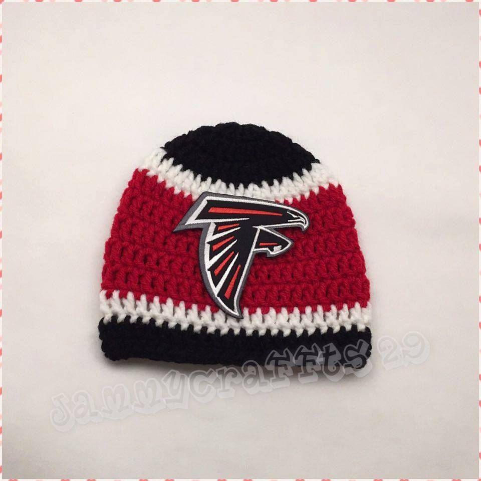 1daeaccbf Crochet Baby Atlanta Falcons Beanie Hat/Baby Football/Newborn Baby ...