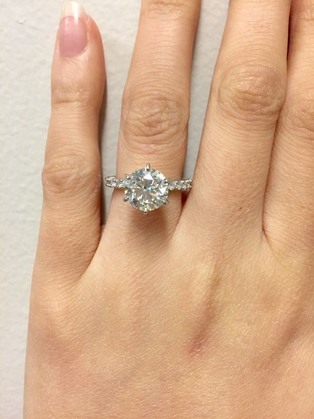 Show Me Your 2 2 5 Carat Rings Please Weddingbee Diamond Engagement Wedding Ring Wedding Ring 14k White Gold Solitare Engagement Rings