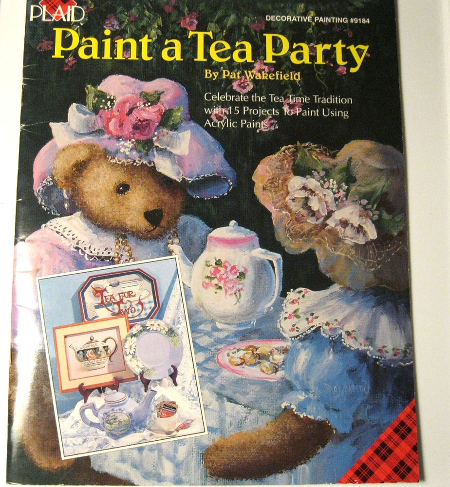 Paint a Tea Party Tole Paint Patterns Pat Wakefield Plaid 34 Page New Old Stock #Plaid