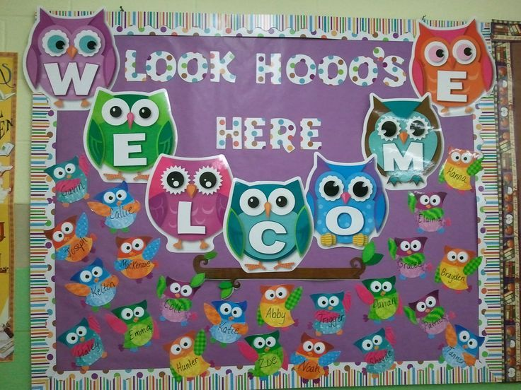 Classroom Bulletin Board Ideas With Owls ~ Owls bulletin boards owl theme welcome to school