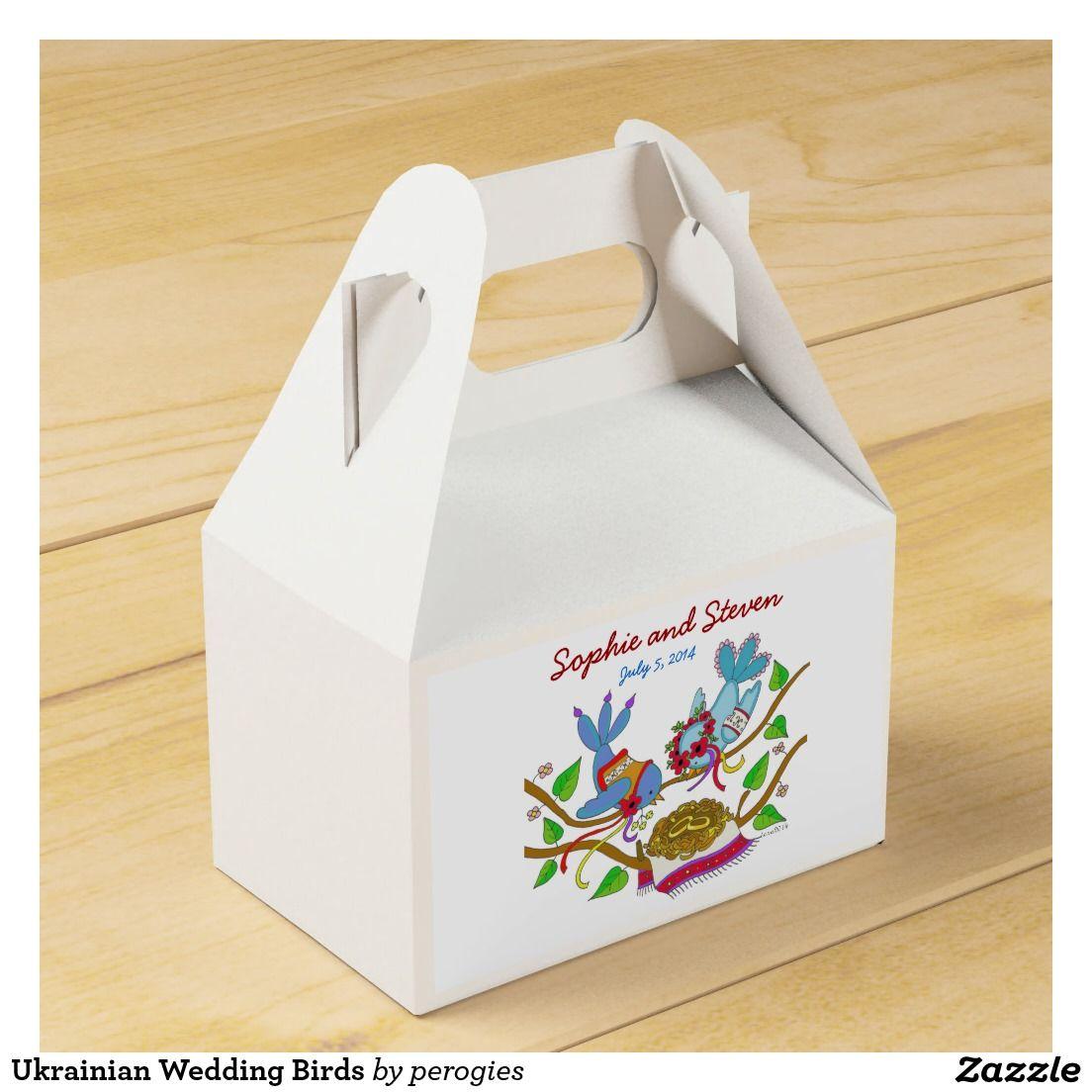 Ukrainian Wedding Birds Party Favor Box | Wedding : Favor Boxes ...