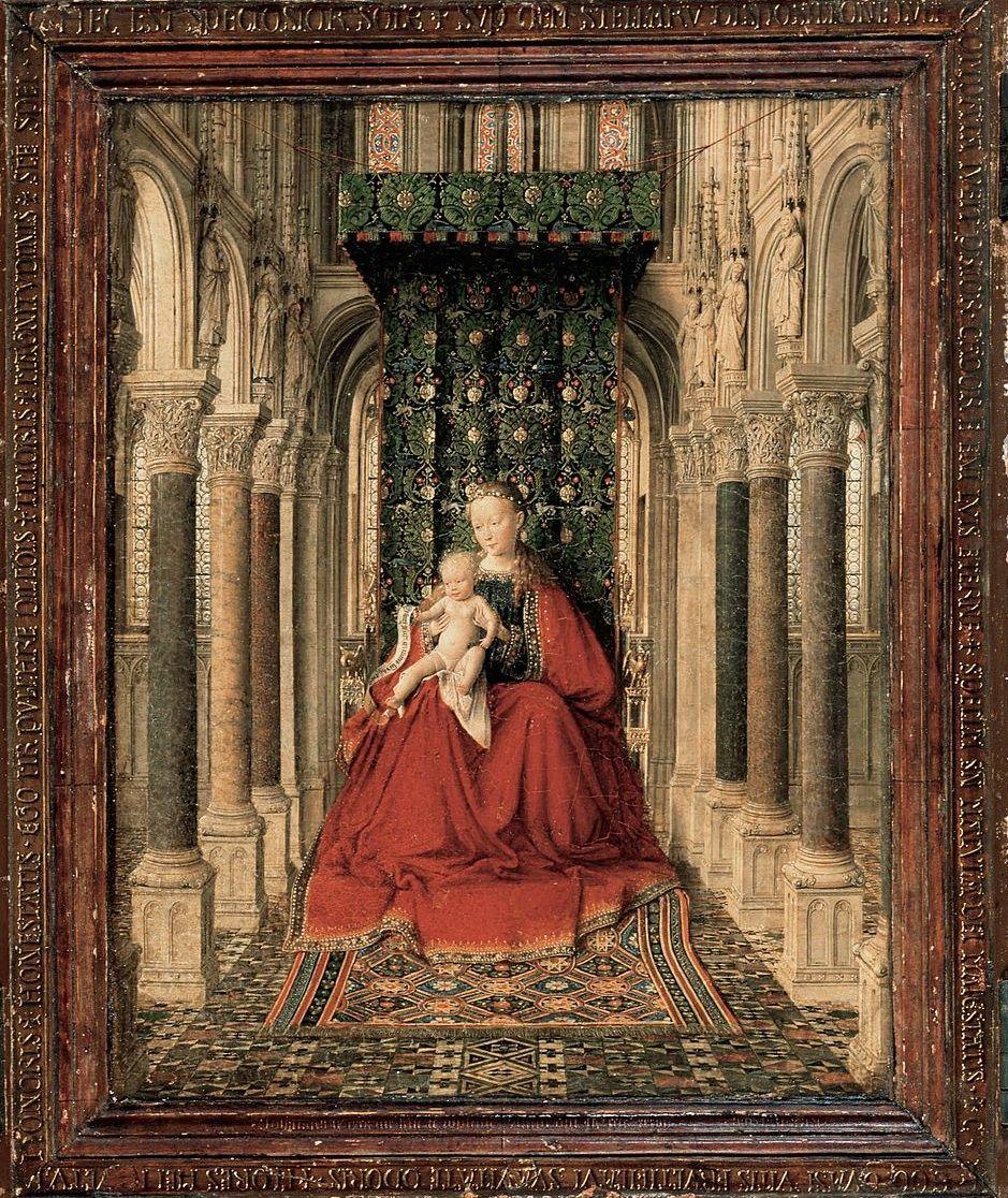 Jan Van Eyck Dresden Triptych Oil On Oak Panel 1437 Gemaldegalerie Alte Meister Dresden Center Panel Jan Van Eyck Trittico Dresda